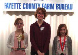 13th Annual Fayette County Farm Bureau Spelling Bee