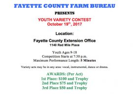 Fayette County Farm Bureau Youth Variety Contest 2017